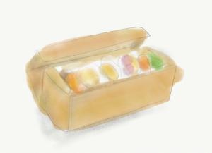 タケノスベイク おまかせスコーンBOXのイラスト